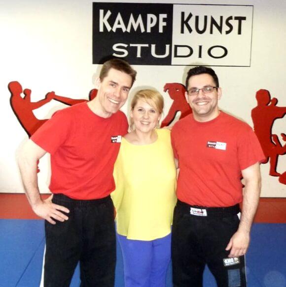 Maite Kelly mit den KKS-Trainern Ralf