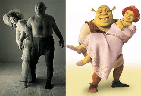 Maurice Tillet und Shrek